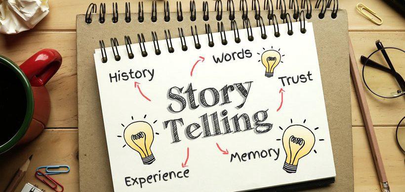 Carnet où il est écrit StoryTelling